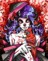 Cardinal Sugarskull Lady by TheLadyJ