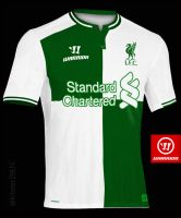 LFC 3rd Away shirt 2014/15 concept Green/W by kitster29