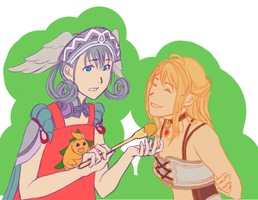 Xenoblade WIP: Melia and Fiora by flightyclouds