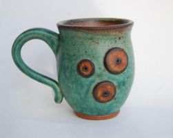 Green Circle Mug by ForeverTuesday