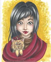 Illustrate Portrait - Have a nice trip love :) by CrisAngy88