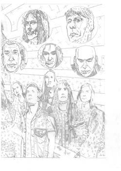 Iron Maiden page 25 part 2 2 page spread pencils by DarrenEmond