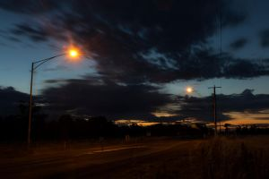 Echuca Sunset 2. by AmyPatonPhotography