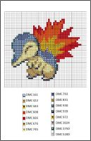 Cross Stitch Project - Cyndaquil Pattern by Hikotori