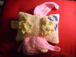 4SALE Fluttershy mini pillow pet - top view pillow by Kira-Kat