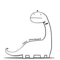 Fancy Brontosaurus by arseniic