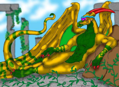 Gold Dragoness by Twylyght99