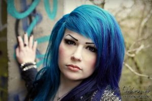 Blue Hair by Estelle-Photographie