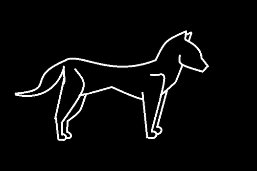 Wolf outline by Kojote-Shapshift
