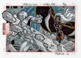 Earthquake vs Storm - Marvel Bronze Age by tonyperna