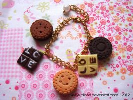 Cookie and Chocolate Bracelet by alicoe