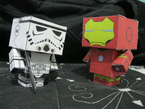 Stormtrooper and Iron Man by vivi-redpepper