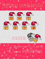 Christmas social buttons by Monyna7