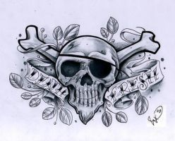 Death Fresh skull design by WillemXSM