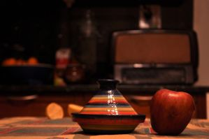 kitchen and red apple by strangetofla