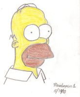 Homer Simpson Drawing by MarioSimpson1