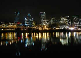 Portland at Night by Lonnieatk