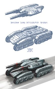 Railgun Tankdestroyer by 4-X-S