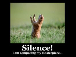 Silence Gopher Demotivational Poster by Altrunchen