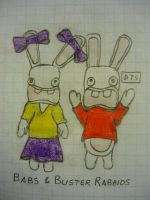 Babs and Buster Rabbids by DiggerShrew