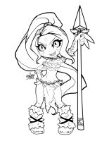 Nidalee Lineart by spl3nd0ra