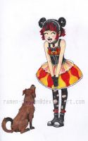 lolita girl and doggie by ramen-dragon
