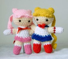 sailormoon and chibimooon by pirateluv