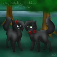Birthday commission by ButterflyColour