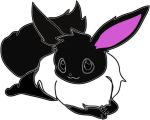 black and white EEVEE!!! by mariav13