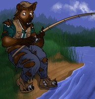 Gone Fishing - 2/3 by Pheagle-Adler