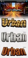 Urban style 3D text effects by PeterSaoSzabo
