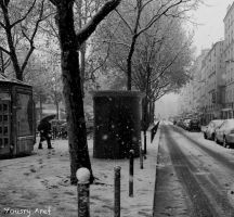Winter in Paris again by Yousry-Aref