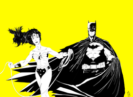Batman and Wonder Woman: Retro by Camodude