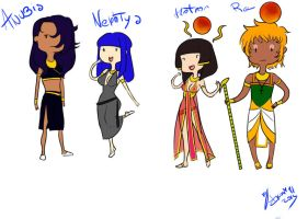 Adventure Time- Egyptian Gods version (my OC) by DiesIrae91