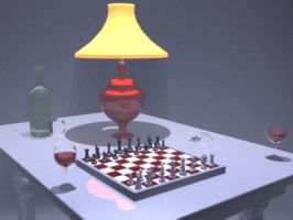 3D Table of Chess by andro140