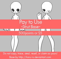 Pay To Use Base {Strut} 500pts or $5 by Koru-ru