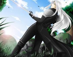 FF7: Goodmorning Sephiroth by zackwings