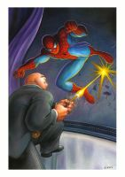 Spidey vs Kingpin after Romita by charles-hall