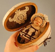 Memento Mori box and doll by Woodedwoods