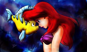 Ariel and Flounder by Salma-H