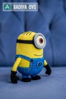 Minion from 'Despicable Me', amigurumi toy by AradiyaToys