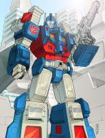 Ultra Magnus - BotCon print by wordmongerer