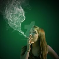 Skull Smoke by ToujoursxClassique