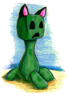 Creeper with Kitty Ears by StripeySharpie