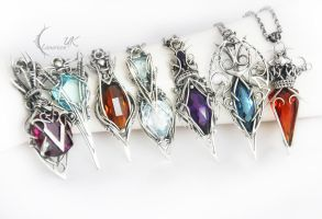 collection of necklaces X  Lunarieen UK by LUNARIEEN