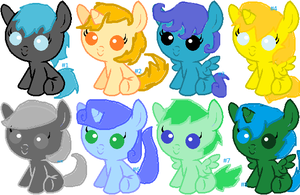 BABY PONY ADOPTABLES!!! by RockehJamaa