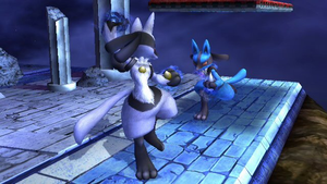 Lucario showdown by luigi135