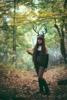 Deer Girl from the Woods 3 by albertsphotos