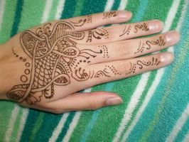 New Henna Hand by katamoria