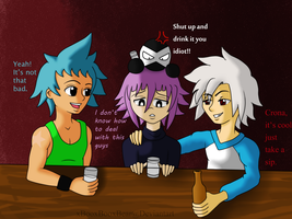AT: Just Drink it Crona by xBooxBooxBear